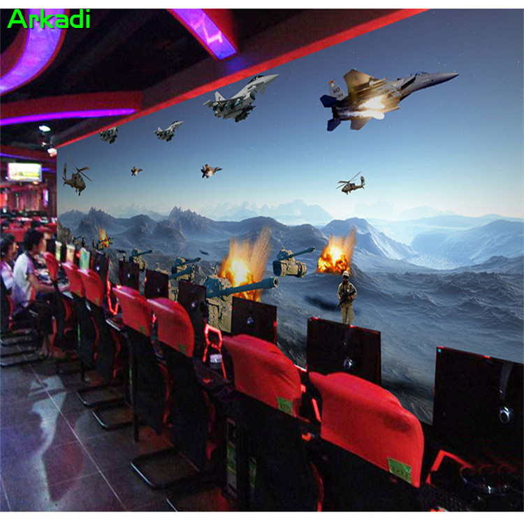 Custom 3D personality visual photo wallpaper war game theme mural KTV Internet cafe box military theme tank and aircraft