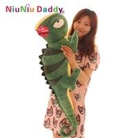 Large Green Lizard Plush Toy Pillow Cushion Stuffed Animal Doll Birthday Gift 100 CM