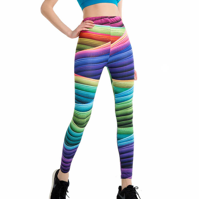 Hizilent штаны для бега женские спортивные Леггинсы Спортивная одежда с цифровым принтом Jogger Брюки обтягивающие компрессионные фитнес