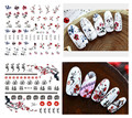 5 unids transferencia de agua decal flor del hotsale / animales Nail design Sticker manicura del clavo de DIY decoraciones