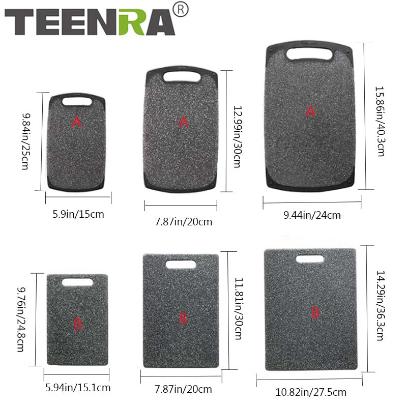 TEENRA Plastic Cutting Mat With Marble Grain Design For Fruit And Vegetable 1