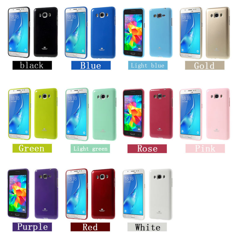 detailed look cb7e6 bf861 US $5.06 15% OFF|J3 2016 Case Original Brand Glossy Colorful Glitter TPU  Silicone Jelly Gel Phone Bag Case For Samsung Galaxy J3 2016 J310 J310F-in  ...