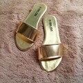 2016 de Las Mujeres Zapatos de la Playa Sandalias Verano Chanclas Señora Zapatillas Mujer Sandalias de Verano para Las Mujeres Talón Plano Ocasional Libre gratis