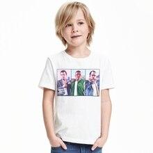 2017 Boy T-shirt Baby Short Sleeve Top Shirt T-shirt Cartoon Cotton T-shirt 1-12 Years Infant Boy T-shirt Children Summer Clothe