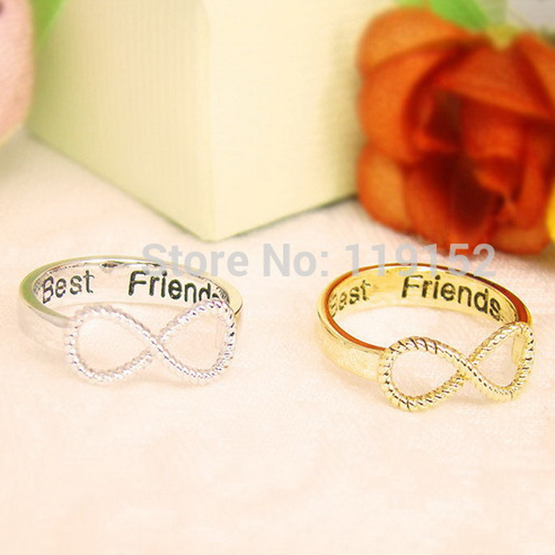 2pcs Lot Best Friends Ring Women S Infinity Ring Engraved