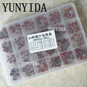 Image 1 - 960 шт. 24 значения * 40 шт. = 960 шт. 50 в керамический конденсатор, набор в ассортименте + коробка