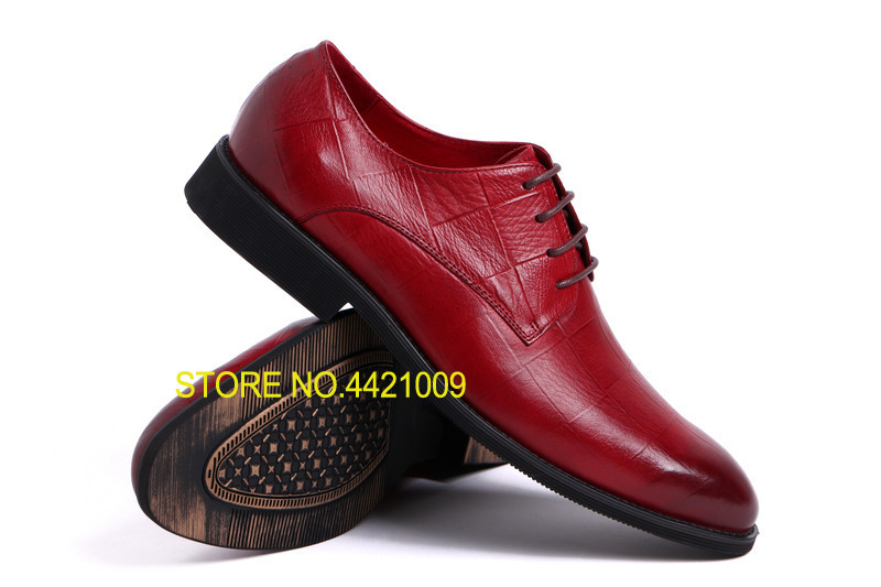 Lace Up Men Oxfords Shoes Red Yellow Black Pointed Toe Genuine Leather Oxfords Wedding Business Dress Shoes Oxfords fashion style lace up flat shoes chaussure homme black men flats pointed toe genuine leather oxfords mens wedding dress shoes