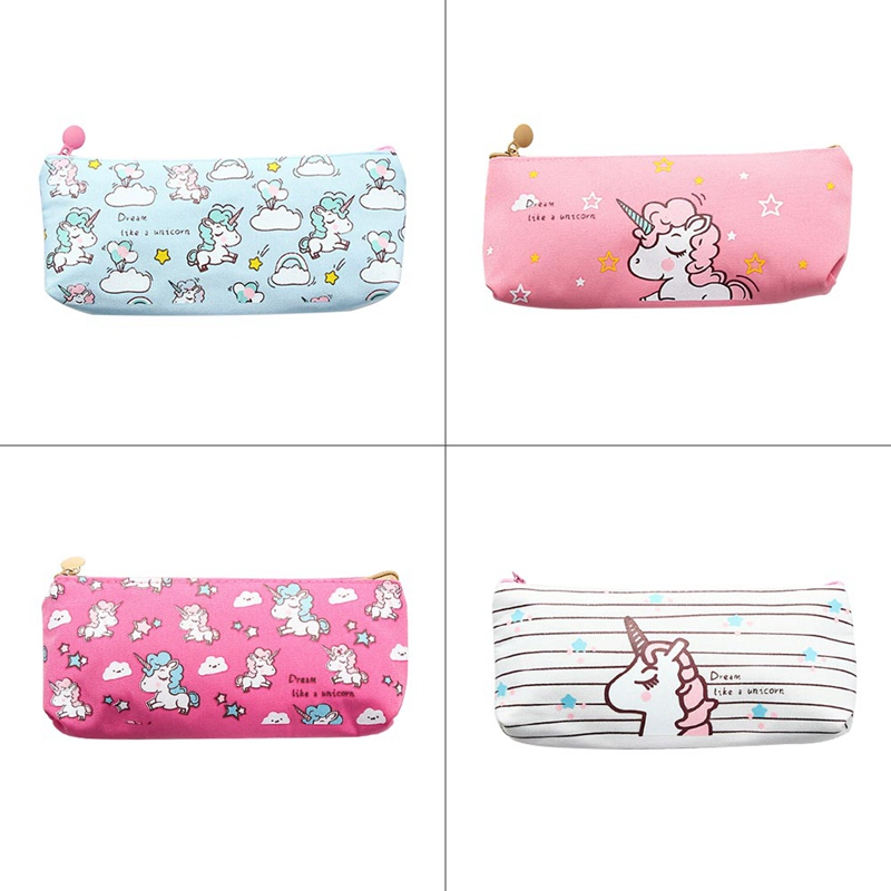 Lovely Horse Canvas Pencil Bag Stationery Storage Organizer Bag School Office Supply
