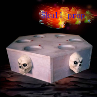 Room escape new large skull prop to open lock or motor escape chamber room Takagism game prop