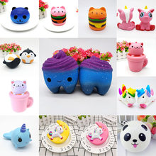 Апаффшт. а 1 шт. Kawaii Animal Antistress Squishy Cat Unicorn Sheeps Panada хомяк Squish Antistress игрушка для взрослых(China)