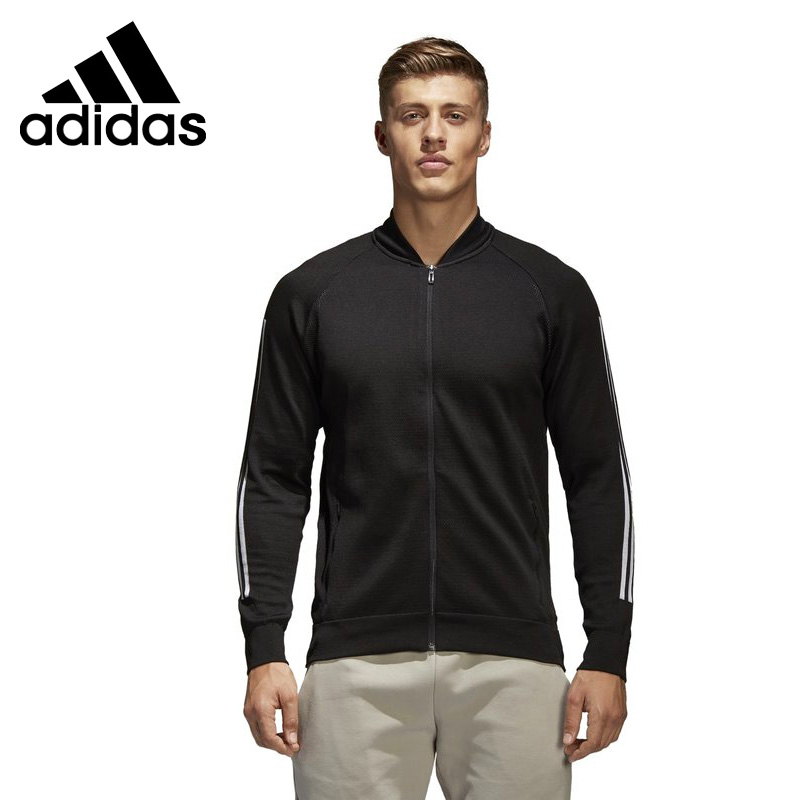 Original New Arrival 2018 Adidas Performance M ID Kn Bomber Men's jacket Sportswear striped trim fluffy panel bomber jacket