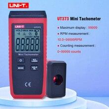 Mini tacômetro digital a laser ut373, tacômetro sem contato, faixa de medição 10 UNI T rpm, tacômetro km/99999 retroiluminação h