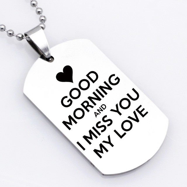 Good Morning And I Miss You My Love Necklace Keychain Women