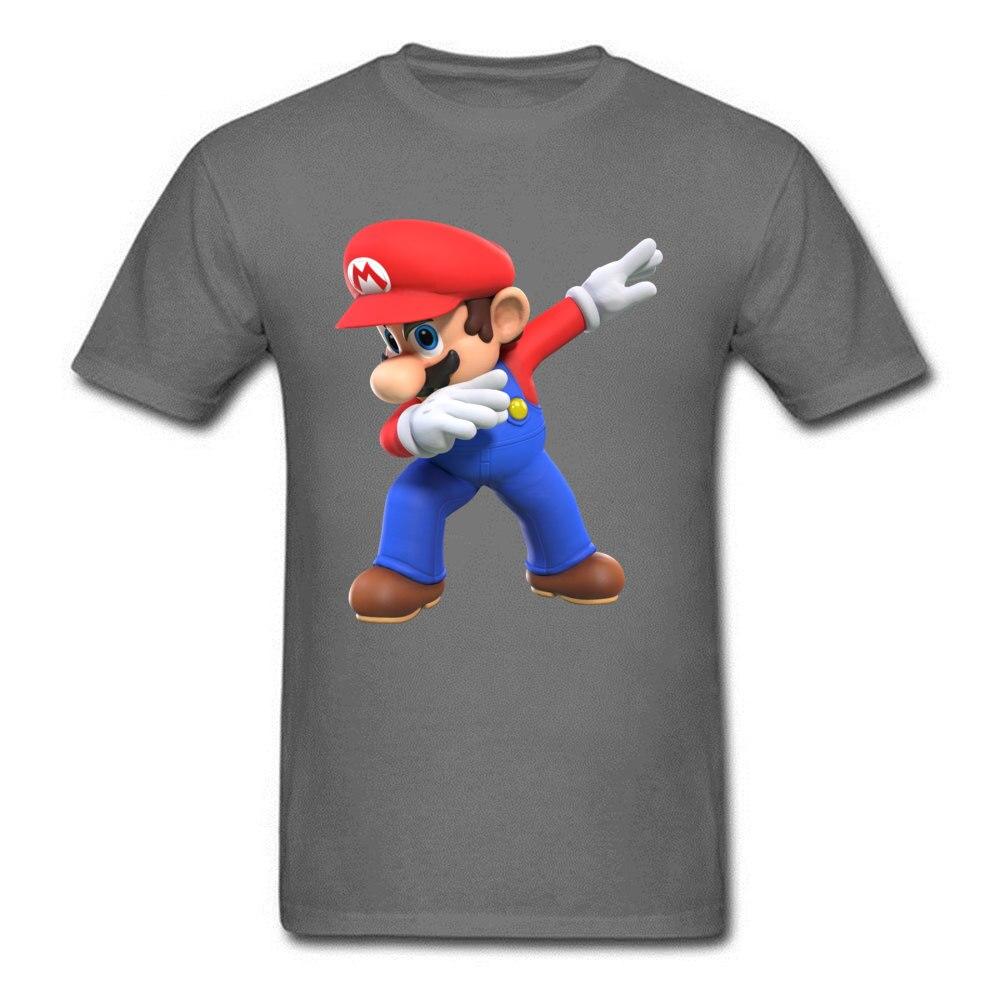 2018 Men T Shirts Round Neck Short Sleeve 100% Cotton super mario bros825yy T Shirt Printed On Top T-shirts Wholesale super mario bros825yy carbon