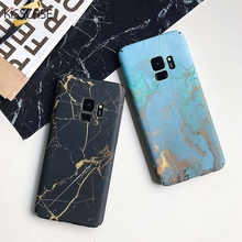 KISSSCASE Mermer Telefonu samsung kılıfı Galaxy S10 S8 S9 Artı Not 8 9 S7 Kenar Sert Mermer samsung kılıfı S8 S9 S7 kapak coque