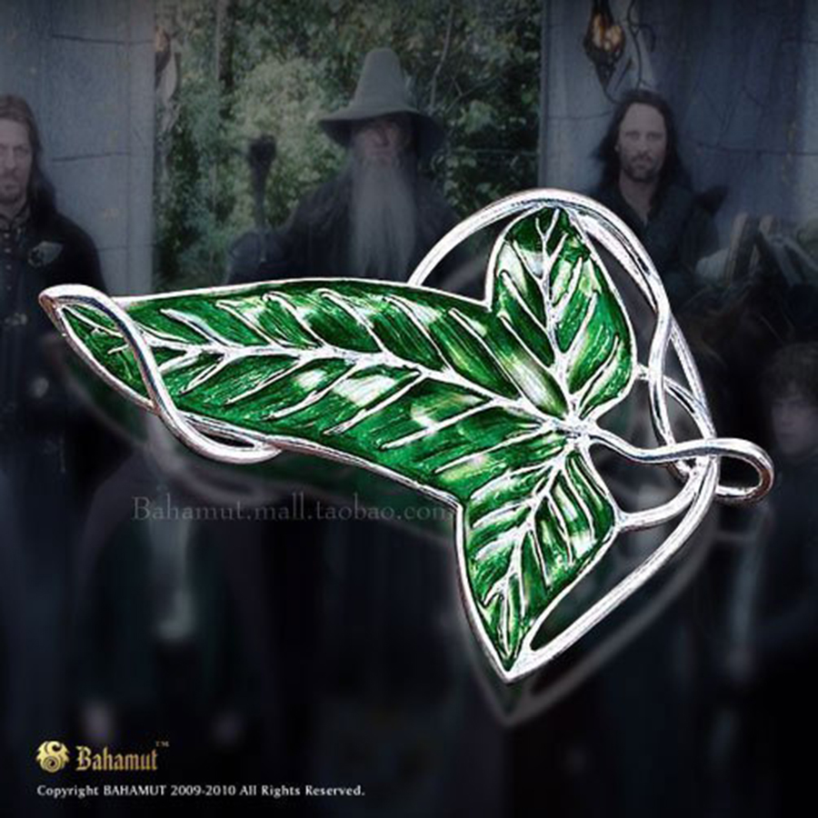 The Lord of The Rings LOTR Arwen's Evenstar Elf Princess Brooches Legolas Greenleaf Elven Green Leaf Brooch Cosplay Jewelry Gift the hobbits mirkwood elf king thranduil s coat the lord of the rings cosplay costume accept custom order