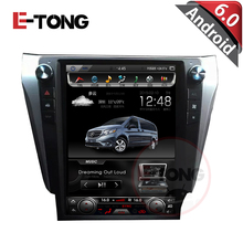 Tesla style Vertical Big Screen Android 6.0 Car DVD Stereo GPS Navigation AutoRadio Player for Toyota Camry 2012-2015 Camera DVR