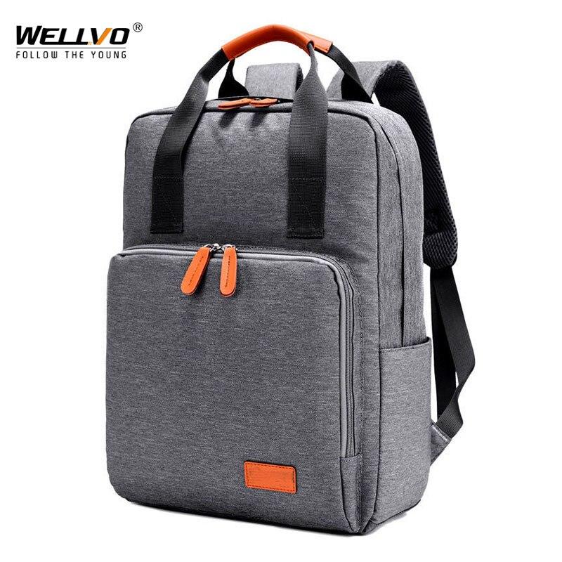 Laptop Backpack Men Canvas Notebook Backpacks Teenage Boys Girls School Bag Large Capacity Travel Bags Students Rucksack Xa98wc