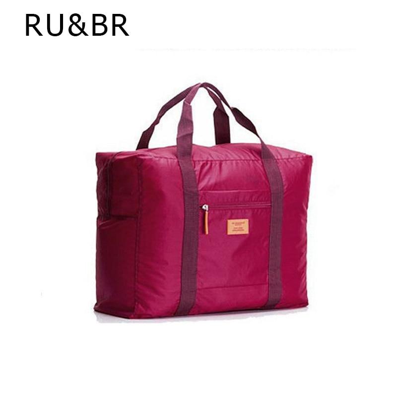 RU BR New Fashion Large Capicity Travel Pouch WaterProof Travel Handbags Women Luggage Travel Bag Folding