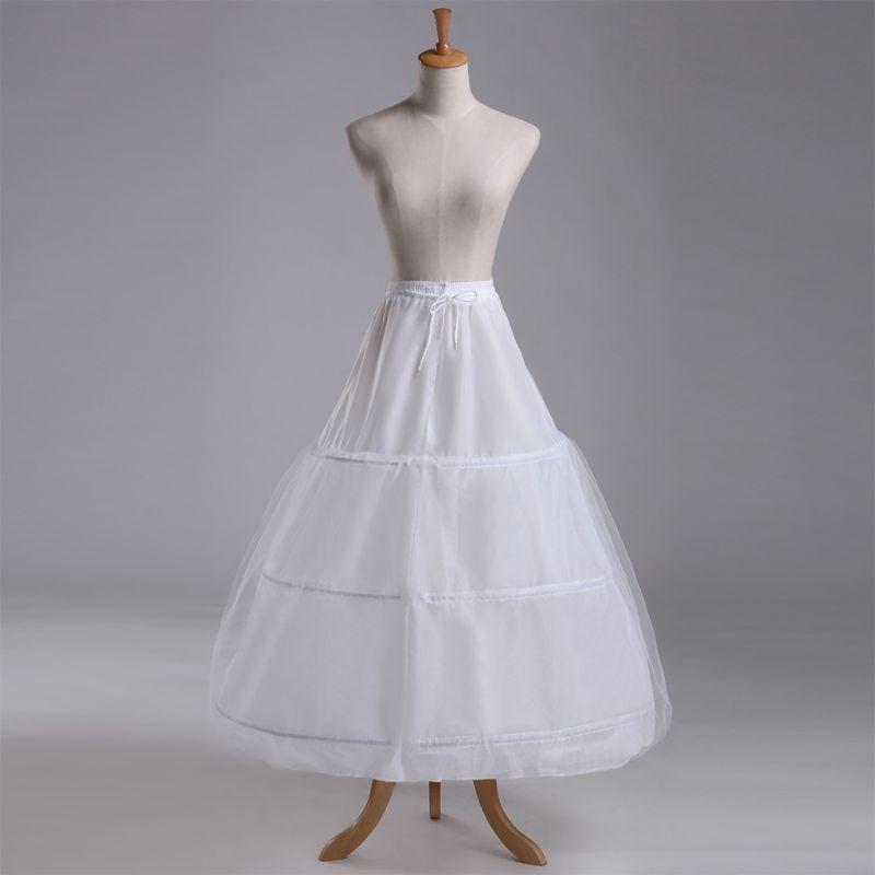 Wedding Petticoat Underskirt Bridal Dress 3Hoop Vintage Crinoline Dress White US