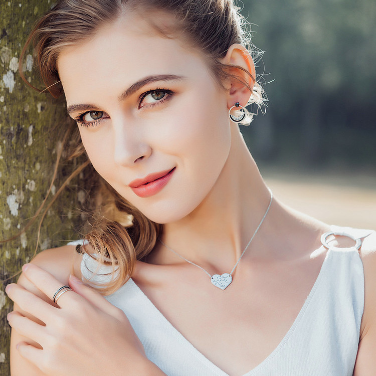 HTB1cIKTj7fb uJjSsrbq6z6bVXa7 BAMOER Genuine 925 Sterling Silver Double Circle Black Clear CZ Stackable Finger Ring for Women Fine Silver Jewelry Gift SCR082