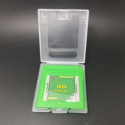 Multi Game Cartridge 20 in 1 PokemonGold Sliver <font><b>Puzzle</b></font> Harvest Moon I II III Resident Evil for 32 Bit Handheld Console English