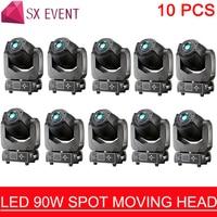 10pcs/lot Comfortable New Design Bar Night Club Decoration 90W Spot Moving Head Lighting DMX LED Light Gold Supplier
