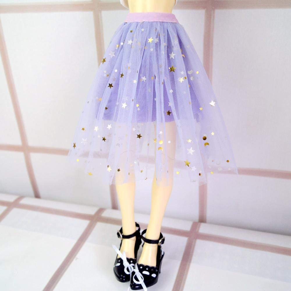 BJD DOLL Purple Dress Skirt Outfits Clothing For 1/4 17