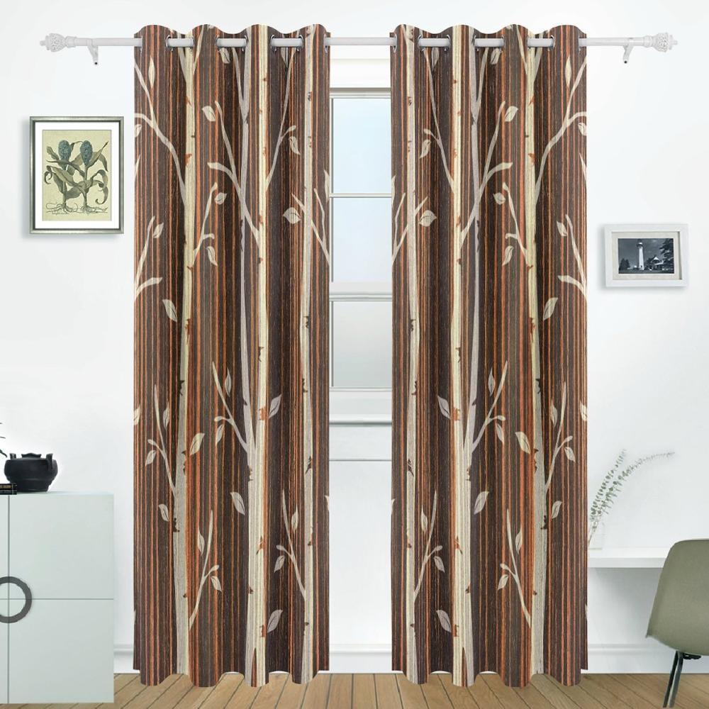 Trees Curtains Drapes Panels Darkening Blackout Grommet Room Divider for Patio Window Sliding Glass Door 55x84 InchesTrees Curtains Drapes Panels Darkening Blackout Grommet Room Divider for Patio Window Sliding Glass Door 55x84 Inches