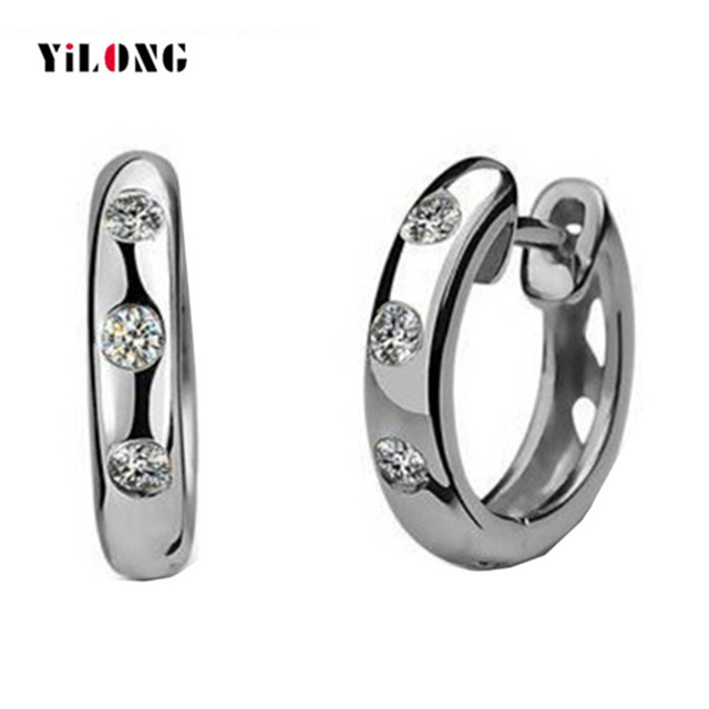 2016 New Arrival Classic Women Stud Earrings 100% Real 925 Sterling Silver Jewelry 1 Pairs Hollow Heart Design For Party Wedding