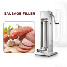 GZZT 7L Manual Sausage  Stuffer Stainless Steel Vertical Sausage Filler Maker Machine For Home Or Commerical Use eh674 electric counter top pasta noodle cooker for commerical or home use