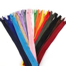 Long-Invisible-Zippers Sewing-Clothes Orange Nylon Black Green 10pcs for DIY Purple 55cm/60cm