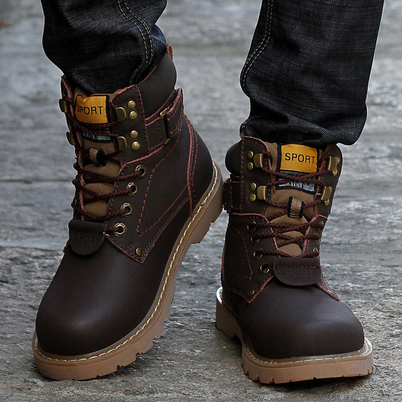 a7443b8613 Big Size 35 46 Winter Men Boots Genuine Leather Boots Men Winter Shoes Men  Military Fur Boots For Men Shoes Zapatos Hombre-in Basic Boots from Shoes  on ...
