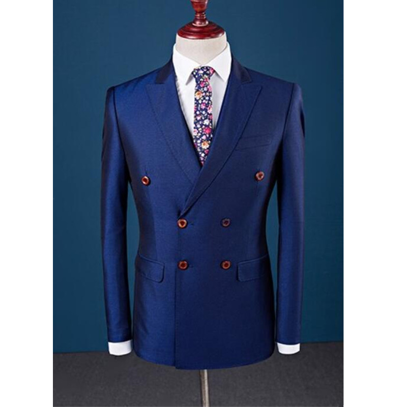 Custom Fashion New Hot Men's West Decoration Gentleman Double-breasted Suit Jacket Men's Business Formal Suit
