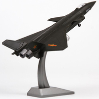 1:72 Black Stealth Jet Alloy Fourth Generation Fighter Plane 20 J20 Static Simulation Aircraft Model Static Model MEMORIAL Toy