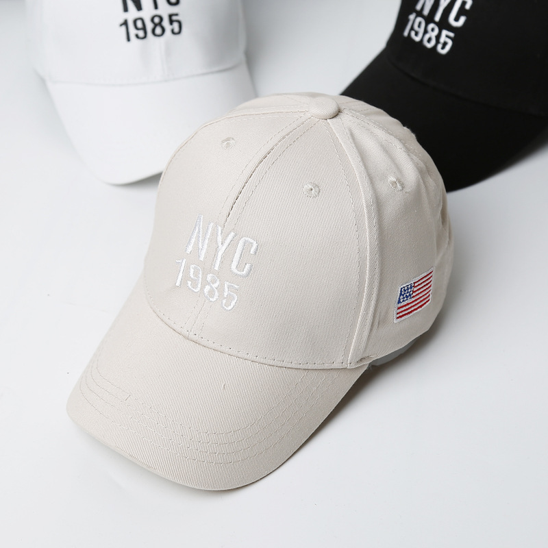 52c640e00f7 New Kids Baseball Cap Cotton Embroidery NYC Summer Snapback Hat Baby Boys  Girls USA Flag Hip Hop Hats Letter Casual Children Cap-in Baseball Caps  from ...