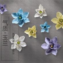 Promo white orchid decorative wall flower dish porcelain decorative plate vintage home decor handicraft craft room decoration figurine