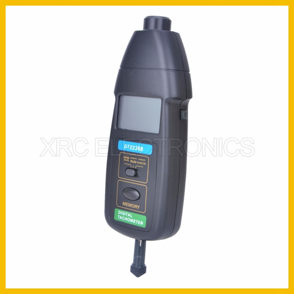 DT2236B Tachometer New surface speed sensor with flute vails to measure speed and length of wire dt 2856 photo touch type tachometer dt2856