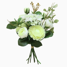 Land lotus bouquet artificial flowers hydrangea home decoration wedding fake bundle
