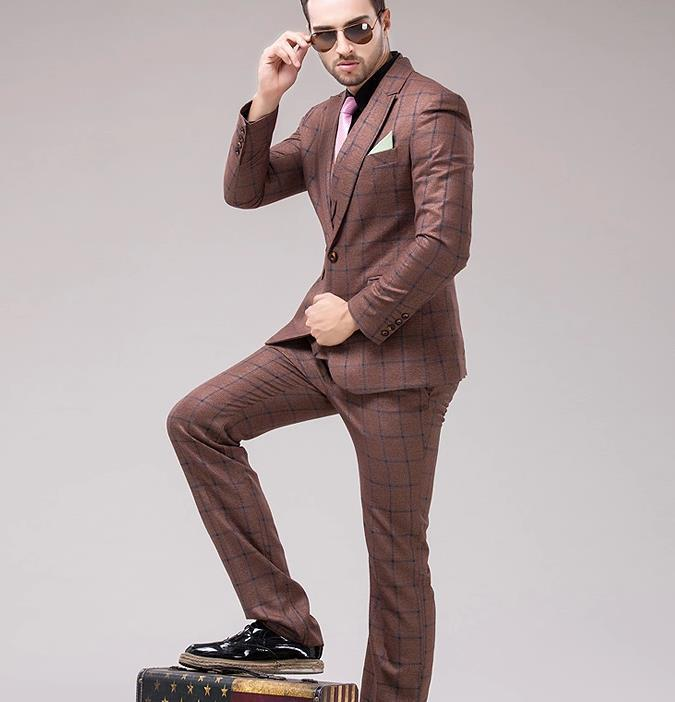 Aliexpress.com : Buy Fashion Hotel brown Dress suits Business