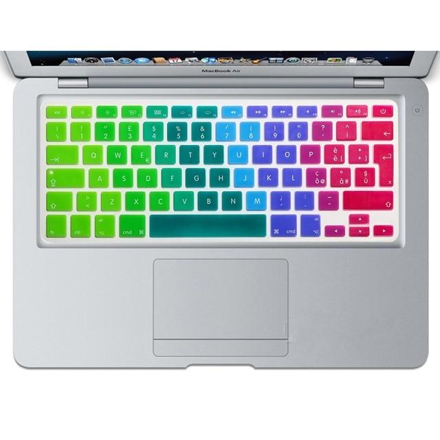 Italian Language Rainbow Silicone Keyboard Cover Skin Protective Film for  MacBook Air 13 30b25bc20