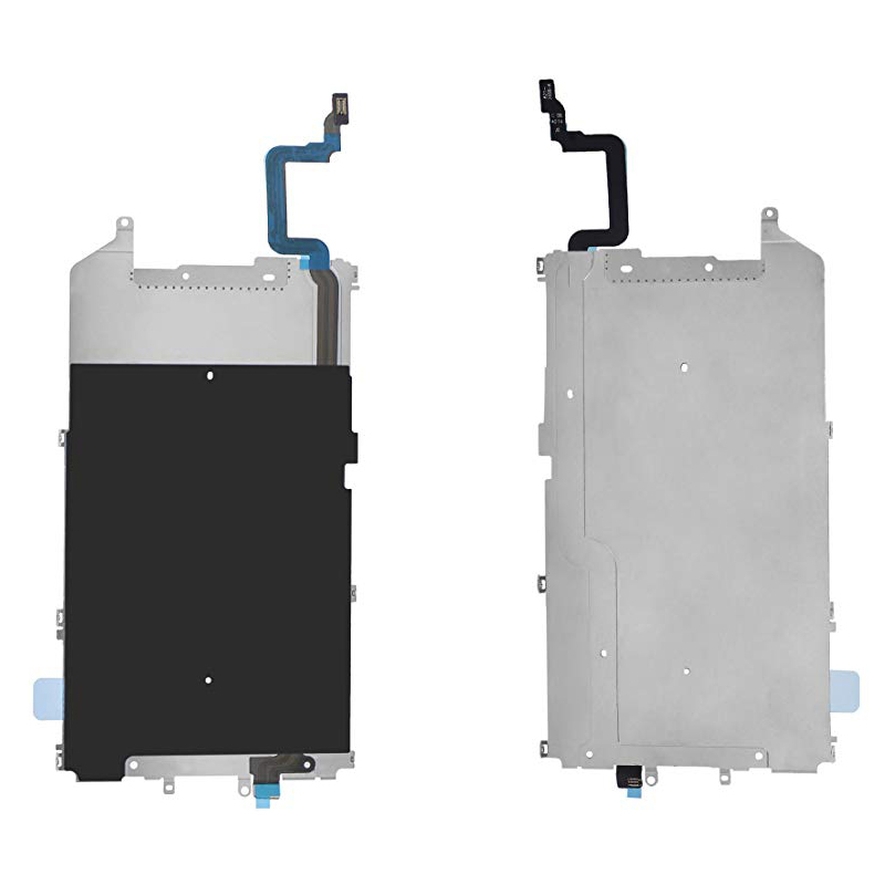 For IPhone 6 6 Plus LCD Screen Back Metal Plate Shield With Home Button Expand Flex Cable Preinstalled Replacment Part