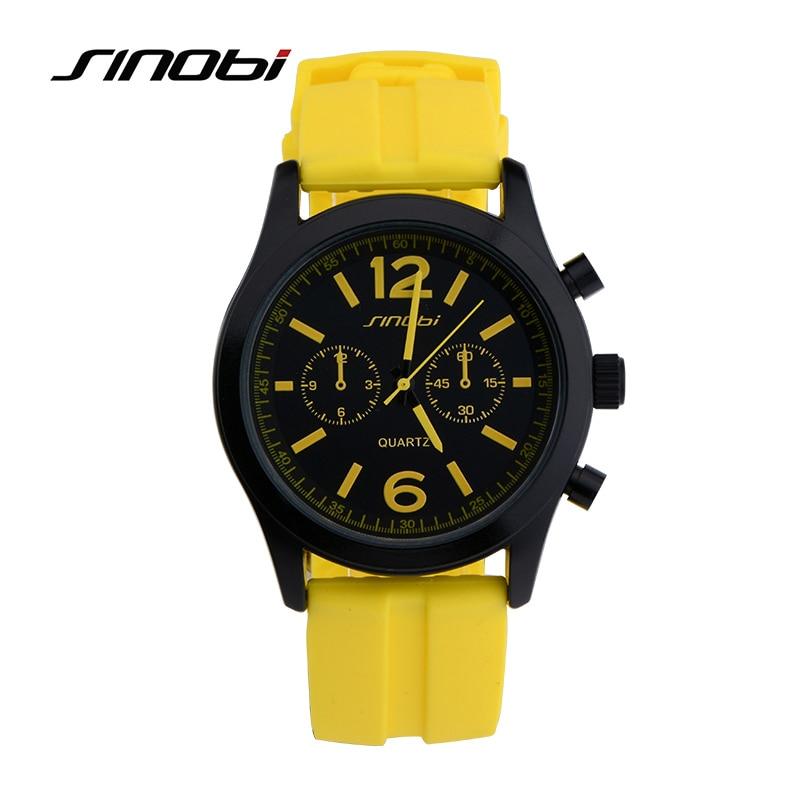sinobi sport s silicone quartz watches