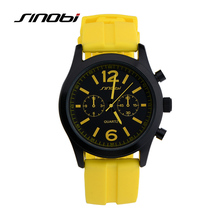 SINOBI Sport Man's Watch Silicone Quartz Watches Men Teenage Boys Cycling Watches Best Gifts