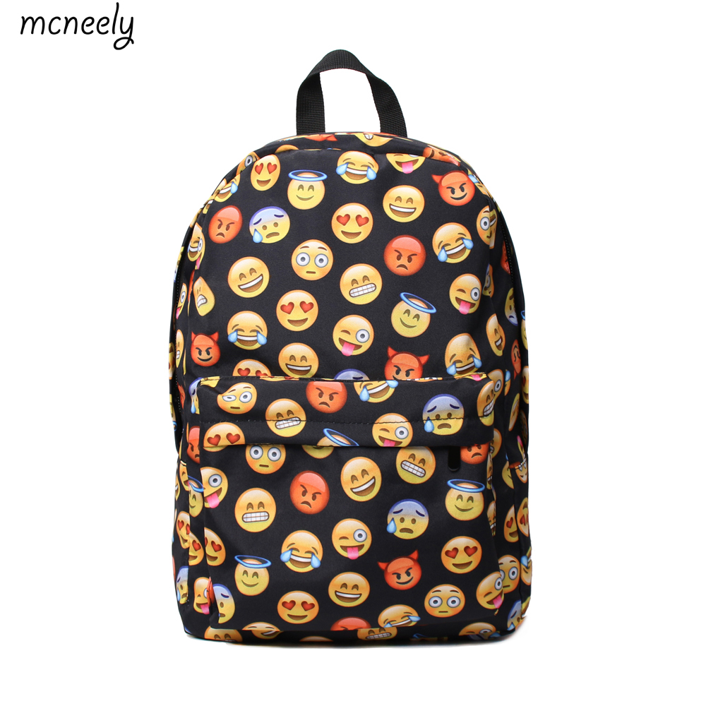 Fashion Emoj Worldwide Backpack School Bag For Boys Girls Rucksack Fully Printed Luggage Travel Bag Students School Bag ...