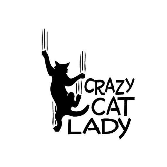 Hot Sale Car Vinyl Decal Sticker Crazy Cat Lady Car Truck Motorcycle Car Waterproof Reflective Stickers Car Stying