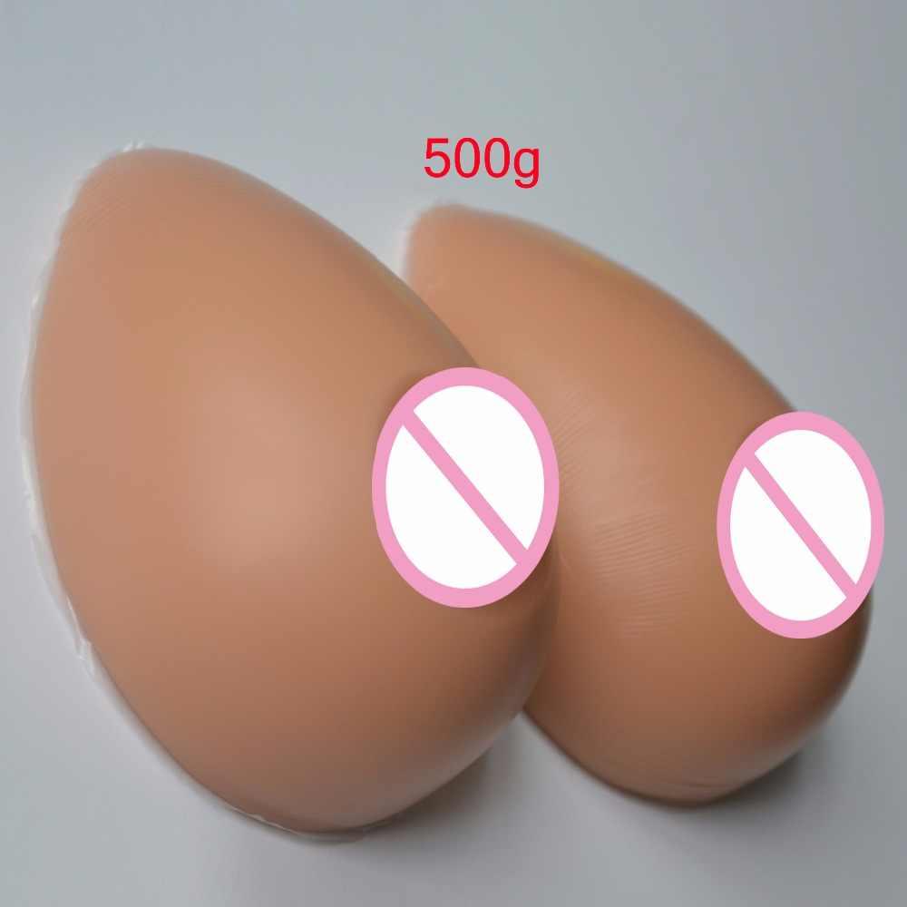 Forma de pecho realista pechos de silicona Artificial potenciador de pecho prótesis Color de piel oscura para travestidor 500g/600g /800g/1000g