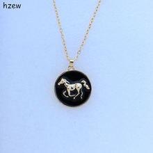 Hzew модные ожерелья Брендовое ожерелье с подвеской женские