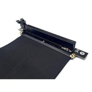 Image 5 - Cable de extensión de cinta PCI Express x16 a PCIE x16 macho a hembra Adaptador/elevador de tarjeta gráfica PCI E PCIE3.0 PCI E 16x para minería