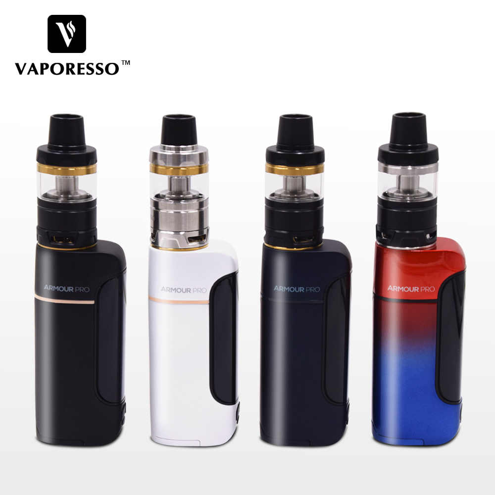 2018 New Original Electronic Cigarette Vaporesso Armour Pro 100W TC Vape Kit with 5ml/2ml Cascade Baby Tank Built-in Mesh Coil